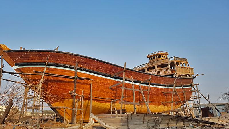 lenj boat building in south of Iran