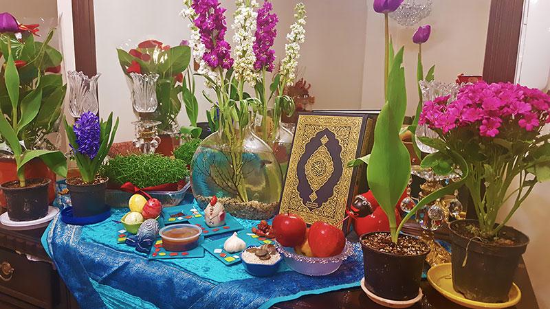 Nowruz ceremony, Haft-seen table