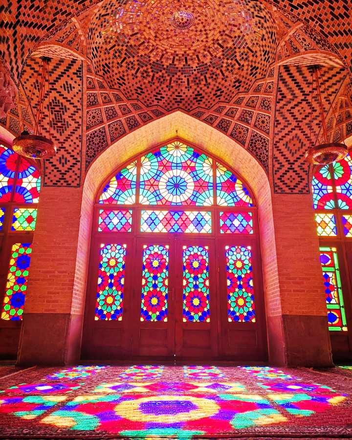 Pink mosque, Nasiralmolk in Shiraz