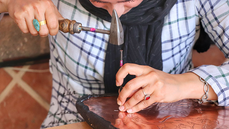 Ardabil craft workshop in Bazaar