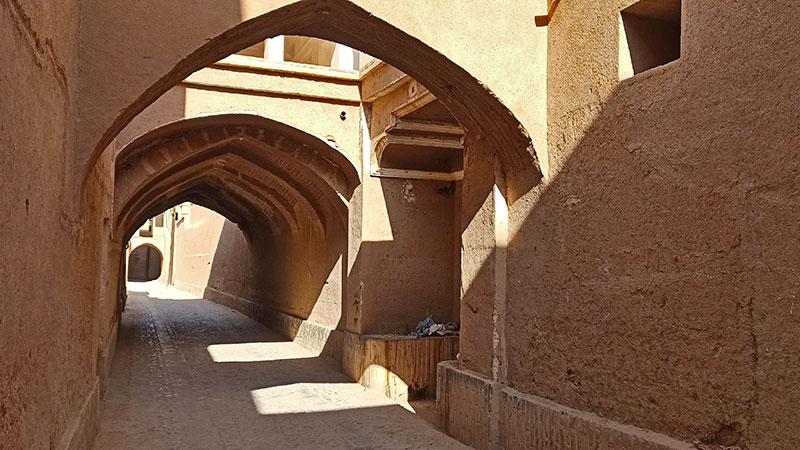 Ardakan roofed alleyways
