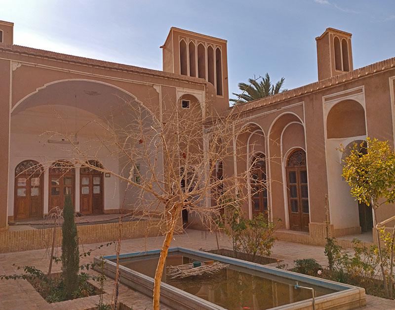 The old mud-brick mansion in Ardakan city