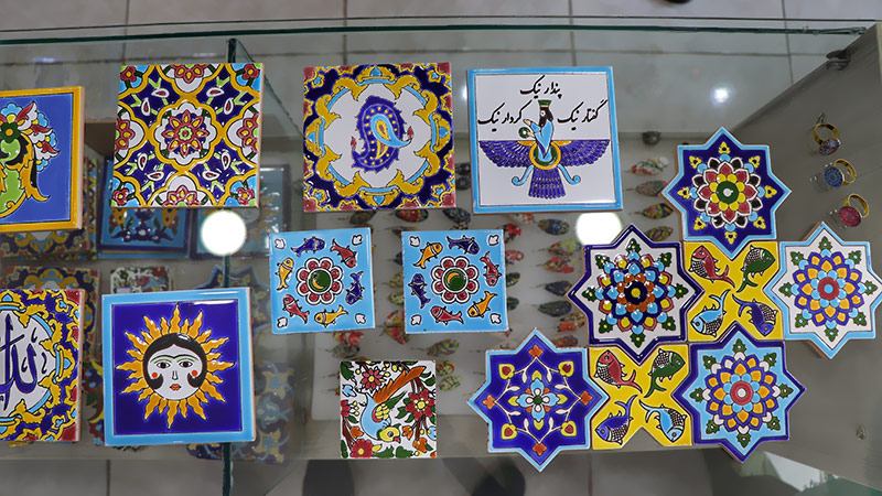 Iranian tiles, kashi, Iran