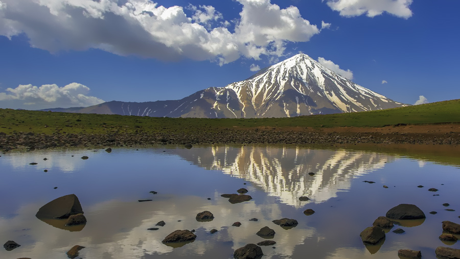 Ascending mount Damavand on Alborz mountains