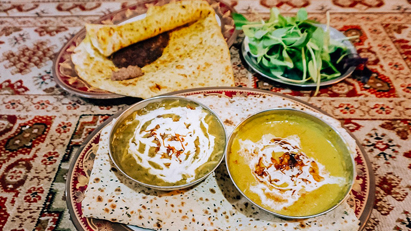 Iran vegetarian food, Ash and soup
