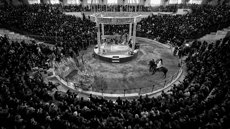 Tazieh, the theatrical re-enactment of the Battle of Karbala