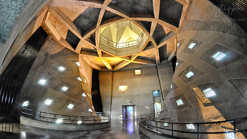 inside structure of Azadi tower