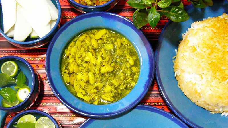 Baghali Ghatogh, the vegetarian meal of north of Iran