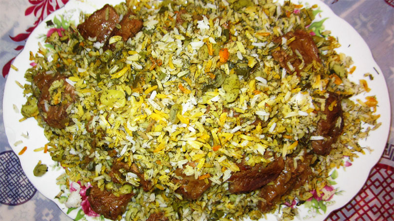 Baghali Polo (Rice with Dill and Fava Beans)