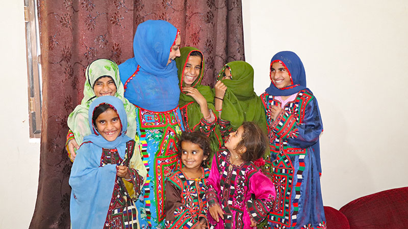 Balochi kids and their the vibrant local dressing