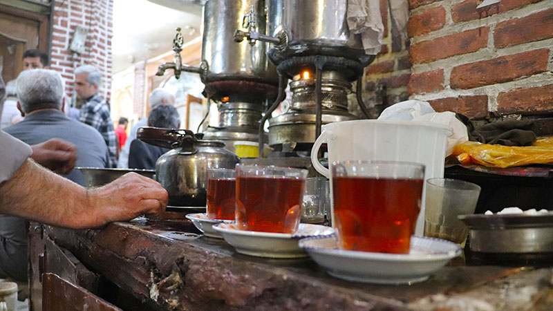 Iran traditional tea house