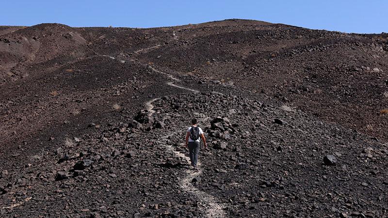 black mountain of Varzaneh