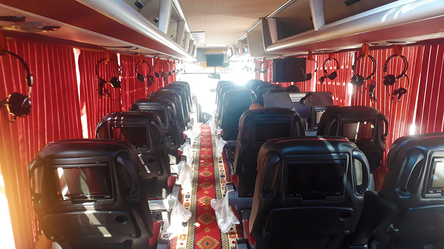 Inside of Dorsa VIP Bus