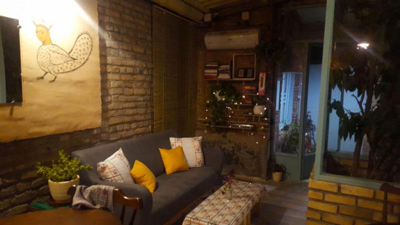 Cedar cafe in the hostel