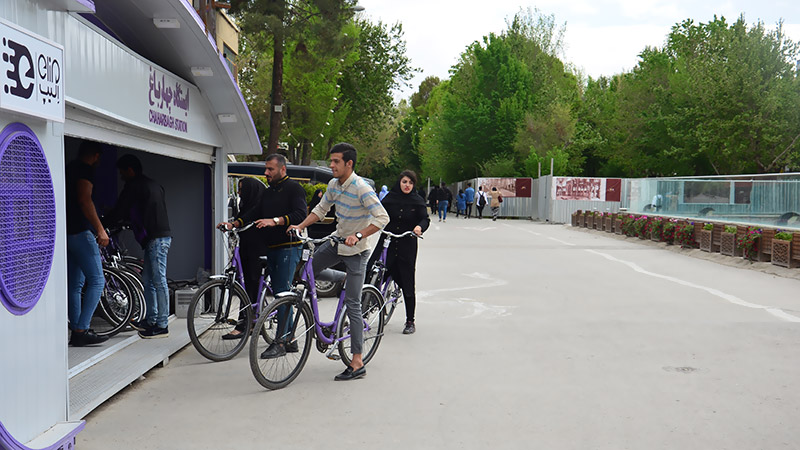 Riding bicycle in Isfahan