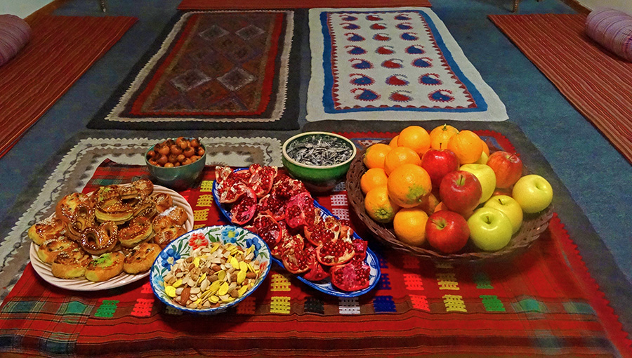 The treat of Chaharshanbe Suri table