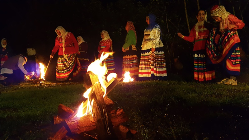 Fire is a sacred element in Persia and chaharshanbe suri