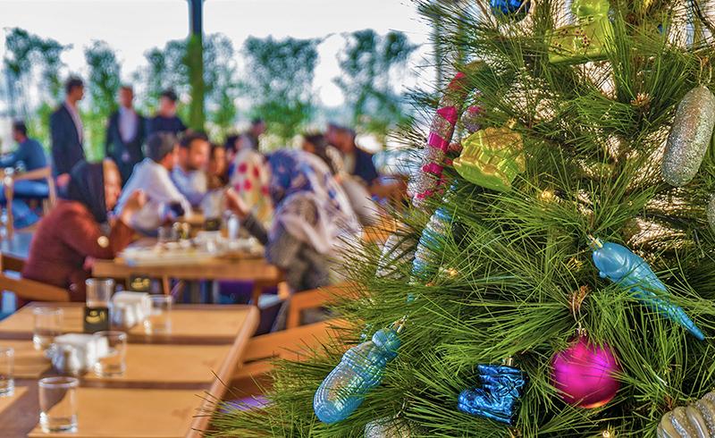 Christmas eve tree in Tehran, Iranian celebrate new year Christmas in Iran