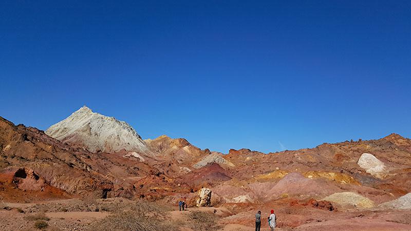 colourful Hormuz Island and its rainbow mountains