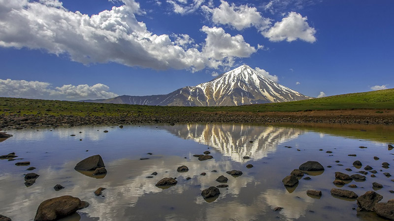 Mount Damavand from Lar National park side