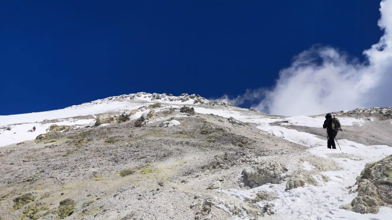 Damavand volcanic summit