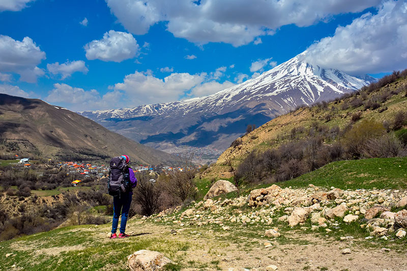 damavand mountain in Alborz mountains, Iran