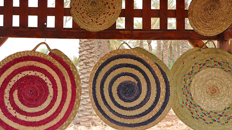 handicrafts from date palm trees