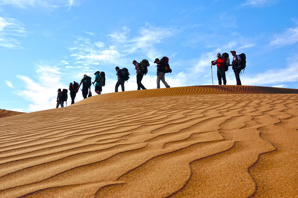 Desert Trekking, the Epic of Sand, Sun and Silver Moon