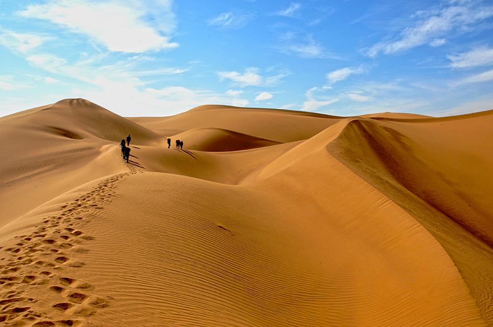Desert trekking in Kashan