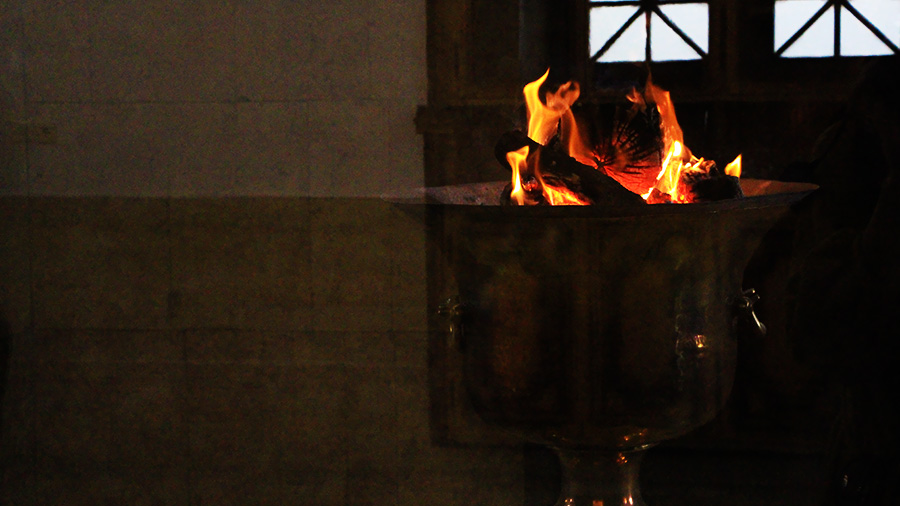 The eternal flame of Zoroastrian temple of Yaz
