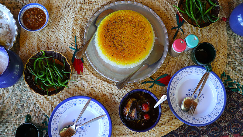 Gilaki cuisine in a village of Rasht