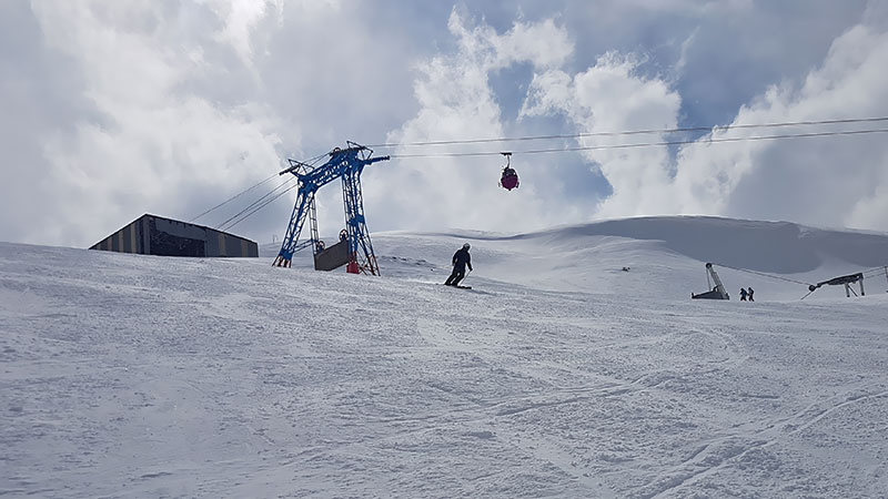 Dizin ski resort in the Alborz mountains