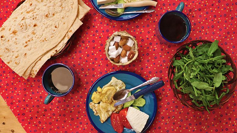 Typical persian breakfast