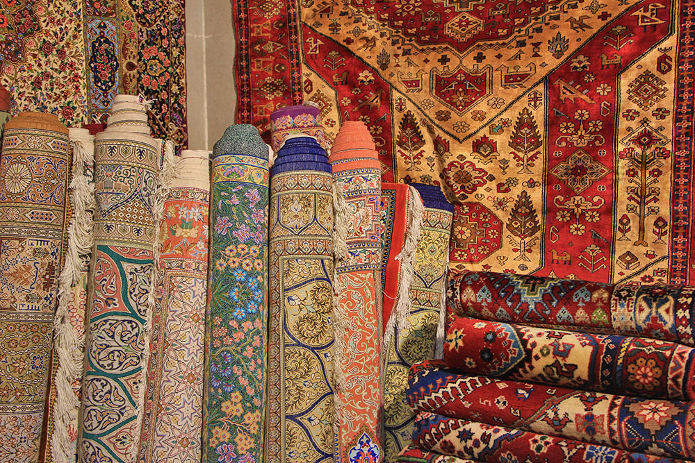 Persian Carpet in Isfahan Bazaar, Naqsh-e Jahan Square