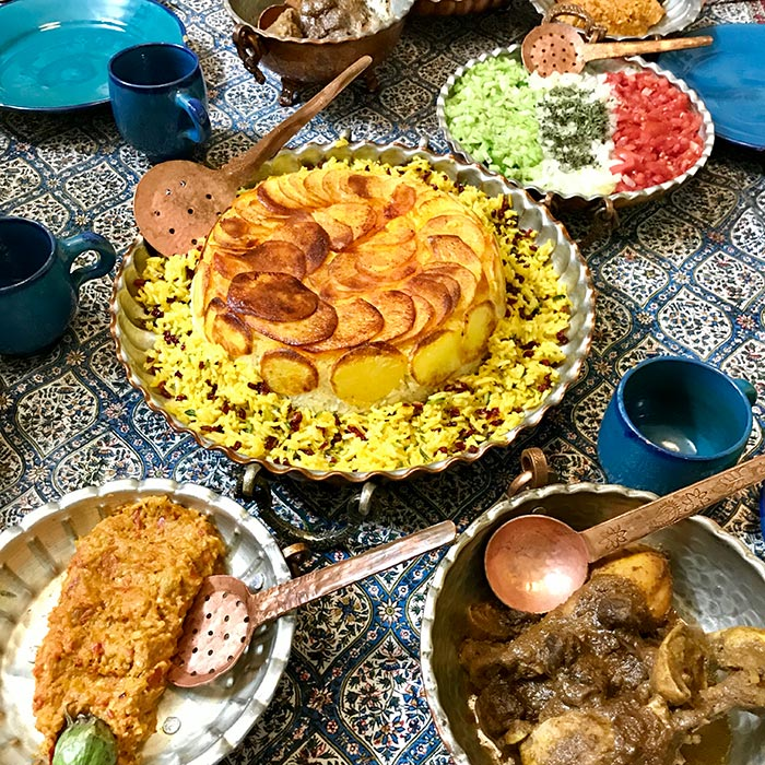 Iranian food table