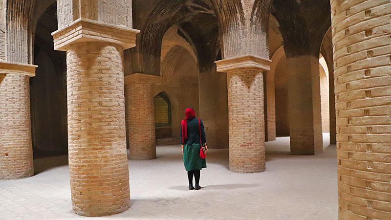 four-ivan plan of Jame Mosque esfahan