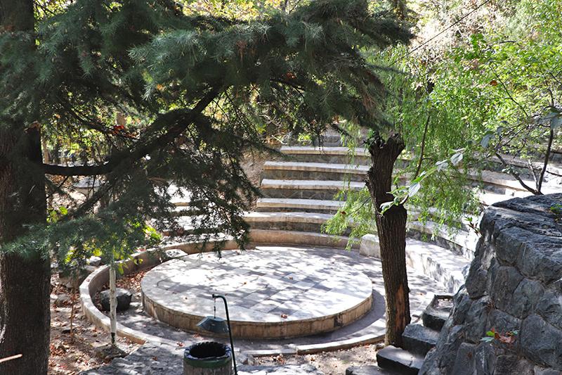jamshidiyeh park at north of Tehran