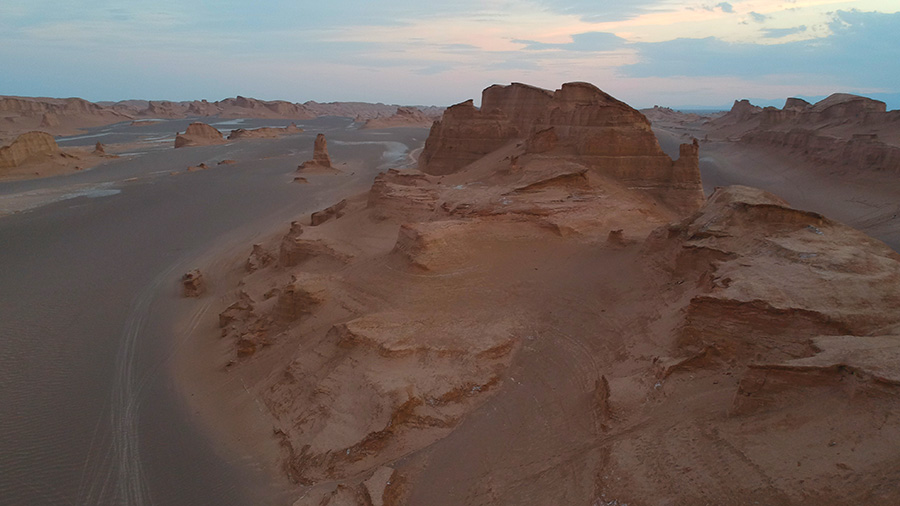 The Reminiscent of Monument Valley in Lut Desert