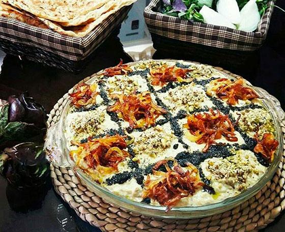 kashke bademjan persian dish