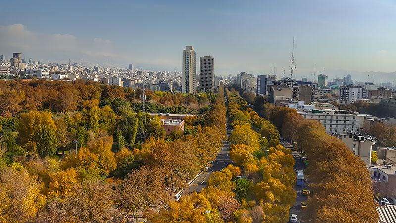 Keshavarz boulevard in Tehran