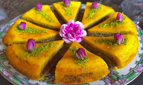 khagineh is a persian vegeterian dish from tabriz iran