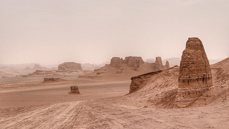 Kalutes of Shahdad, Lut desert