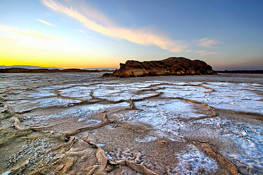 Lut Desert at Iranian plateau