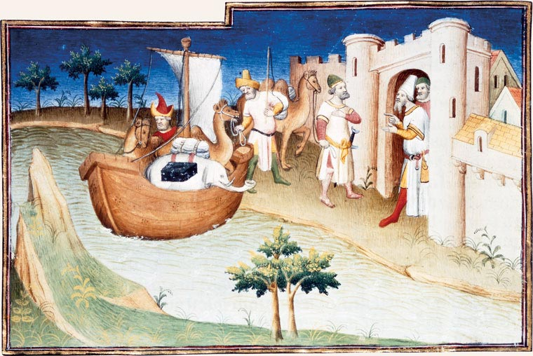 Marco Polo at the gates of Hormuz City