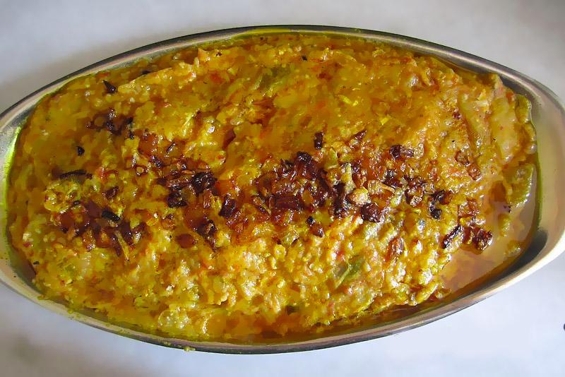 Mirza Ghasemi, Gilan vegetarian meal