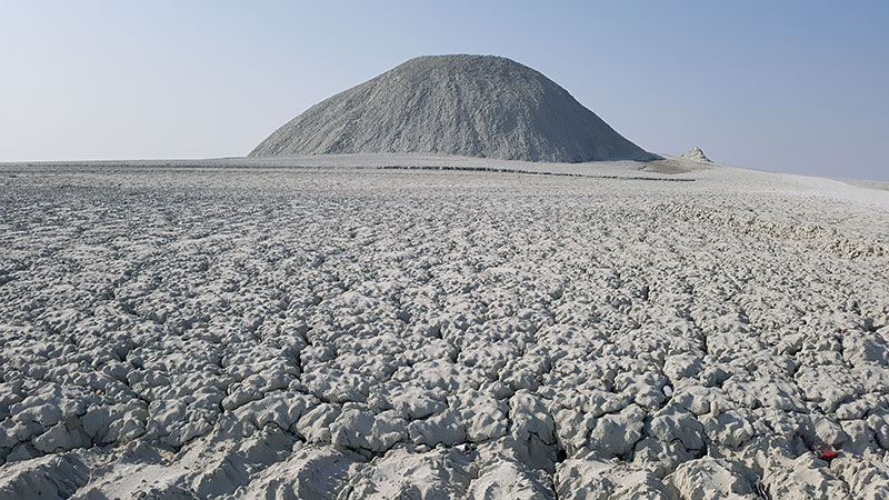Tang mud volcano in Baluchistan, Chabahar