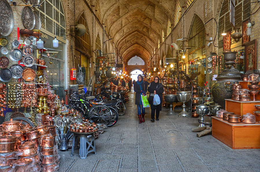 Cooper alley of Isfahan Bazaar