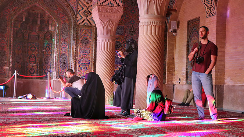 Nasir al-molk mosque or pink mosque in Shiraz
