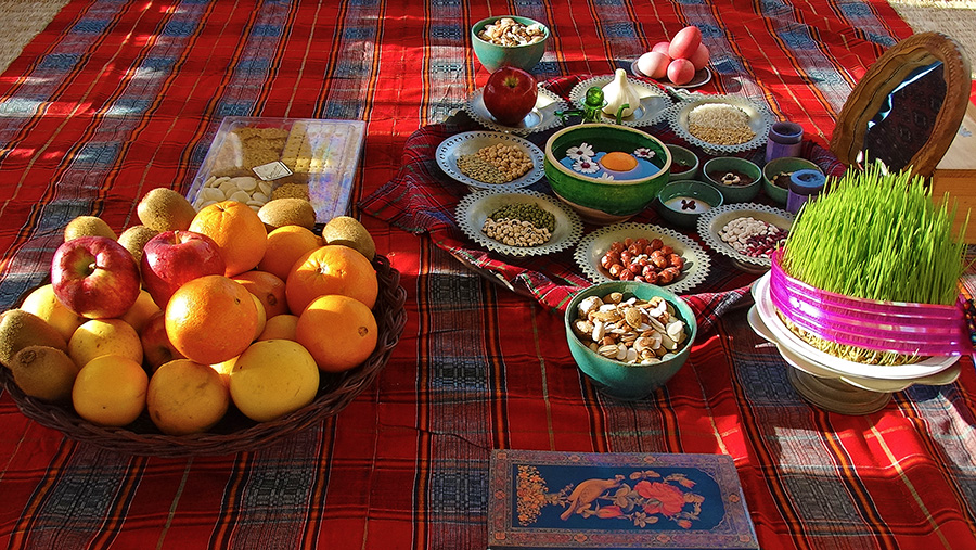 The Haft Seen table in Nowruz