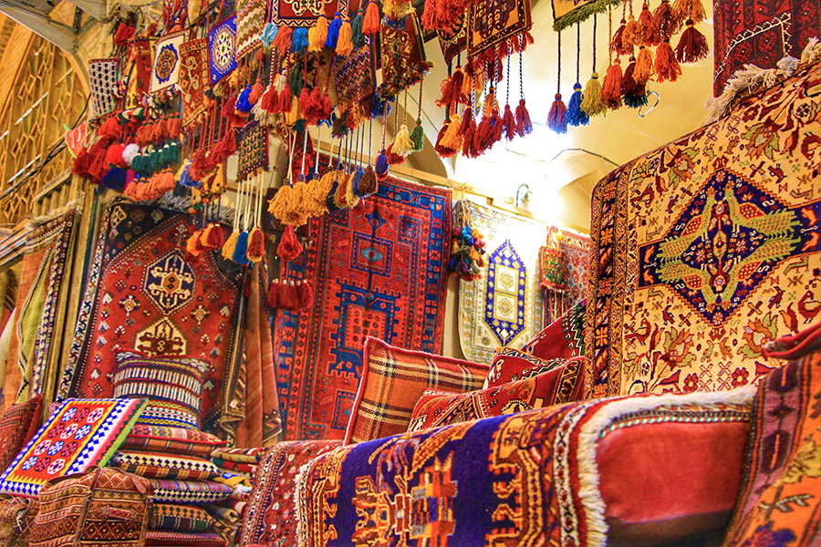 Colorful crafts in Bazaar